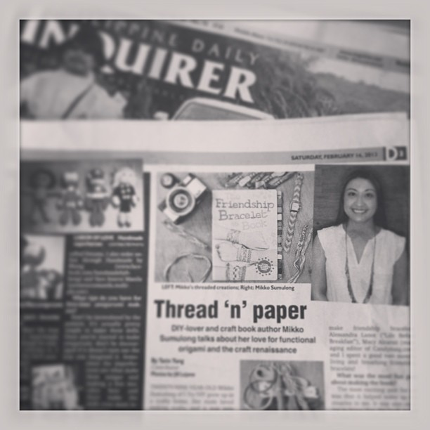I Try DIY | Philippine Daily Inquirer: Thread 'n' Paper