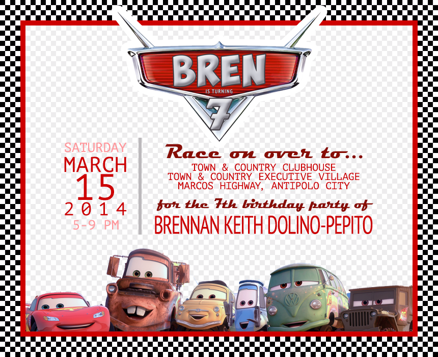 lightning mcqueen invitation templates