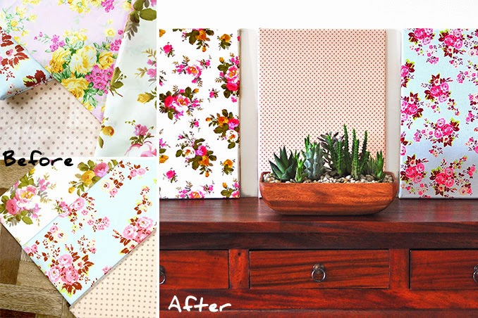 Ph: DIY Fabric Wall Art | I Try DIY