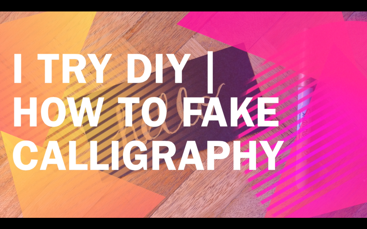 how to fake or cheat calligraphy video tutorial