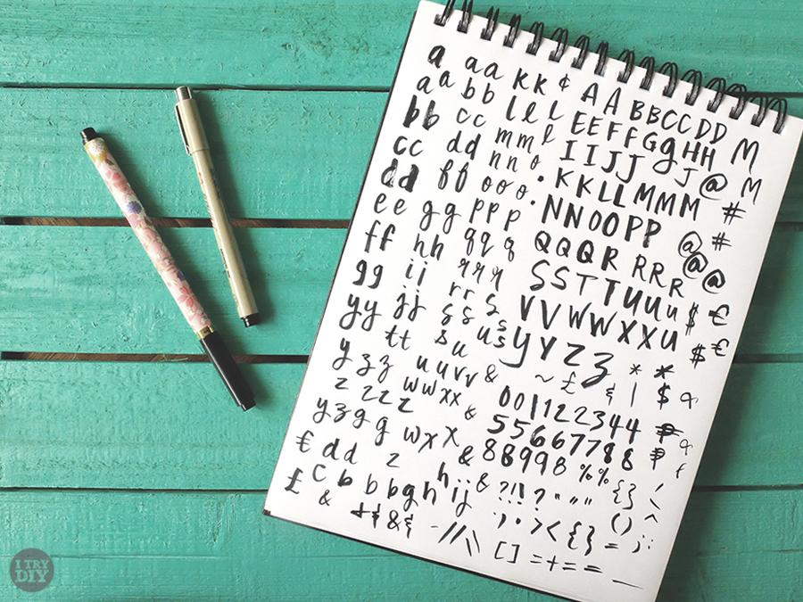 I Try DIY   Font Fix: Mix Fickle