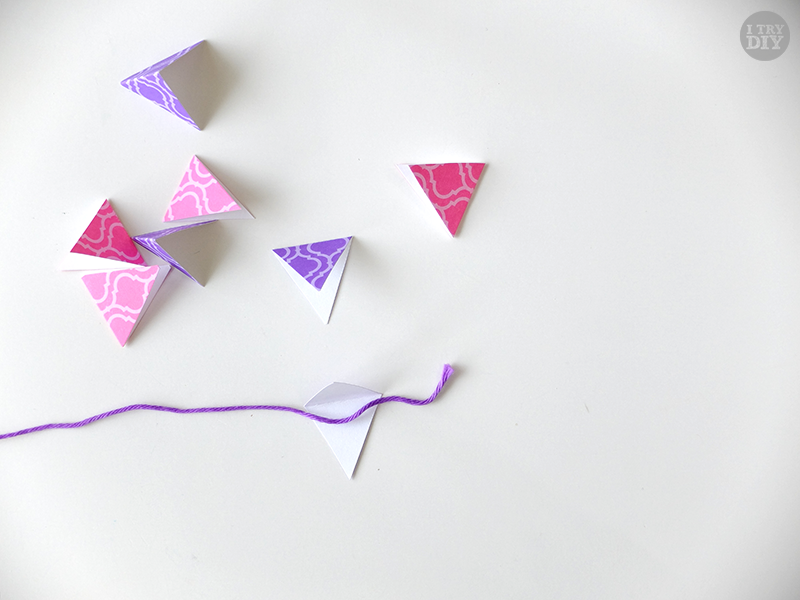 I Try DIY | Mini Bunting Cake Toppers
