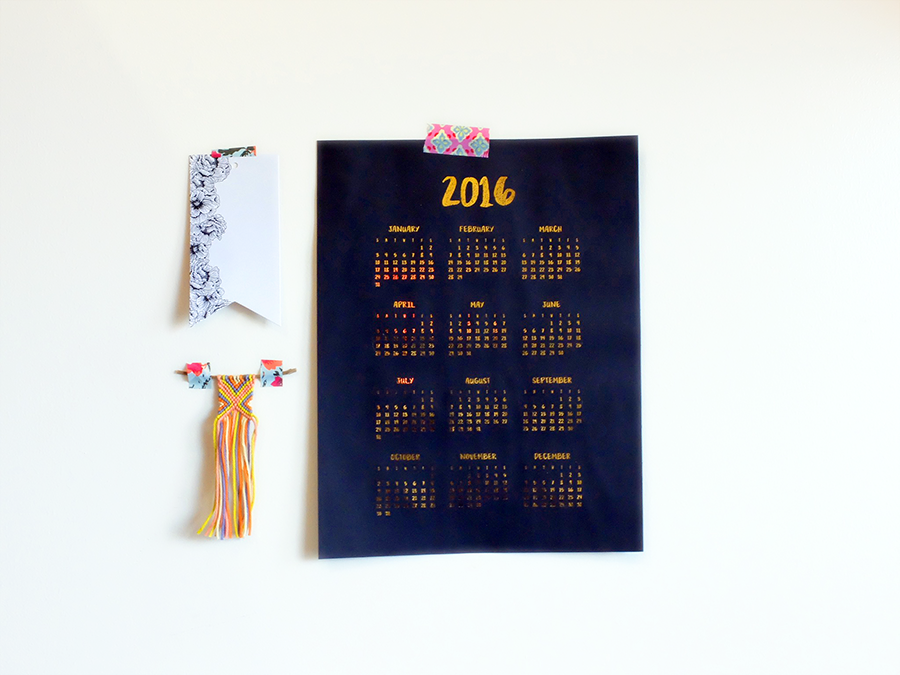 2016 Calendar by Mikko Sumulong I Try DIY
