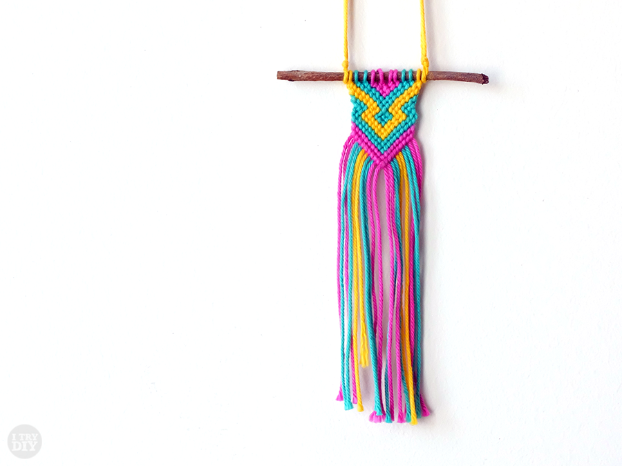 I Try DIY | Handwoven Twig Necklace