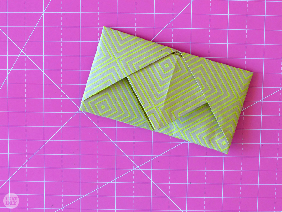 How to Fold a Letter into a Pull Tab Note