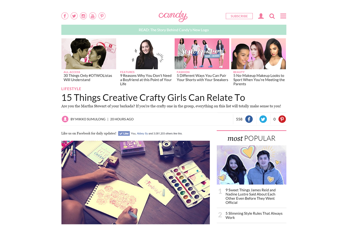 I Try DIY | CandyMag.com: 15 Things Creative Crafty Girls Can Relate To