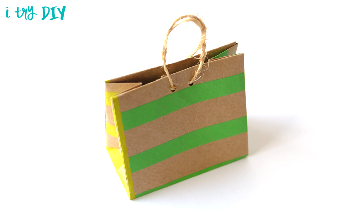 Mini Origami Shopping Bag – I Try DIY