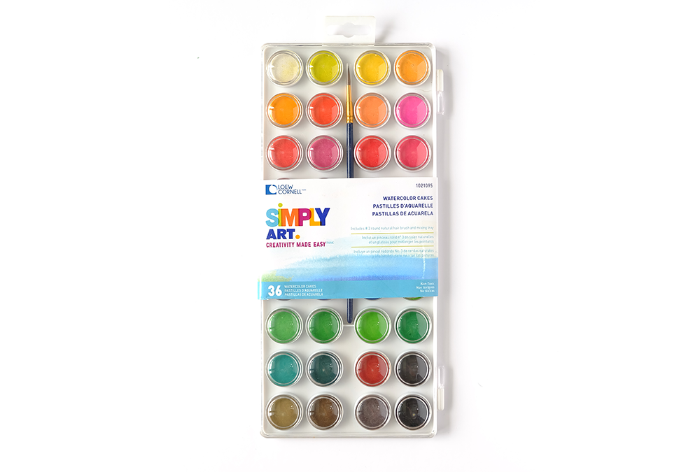 Loew-Cornell-Simply-Art-36-Color-Watercolor-Cake-Set