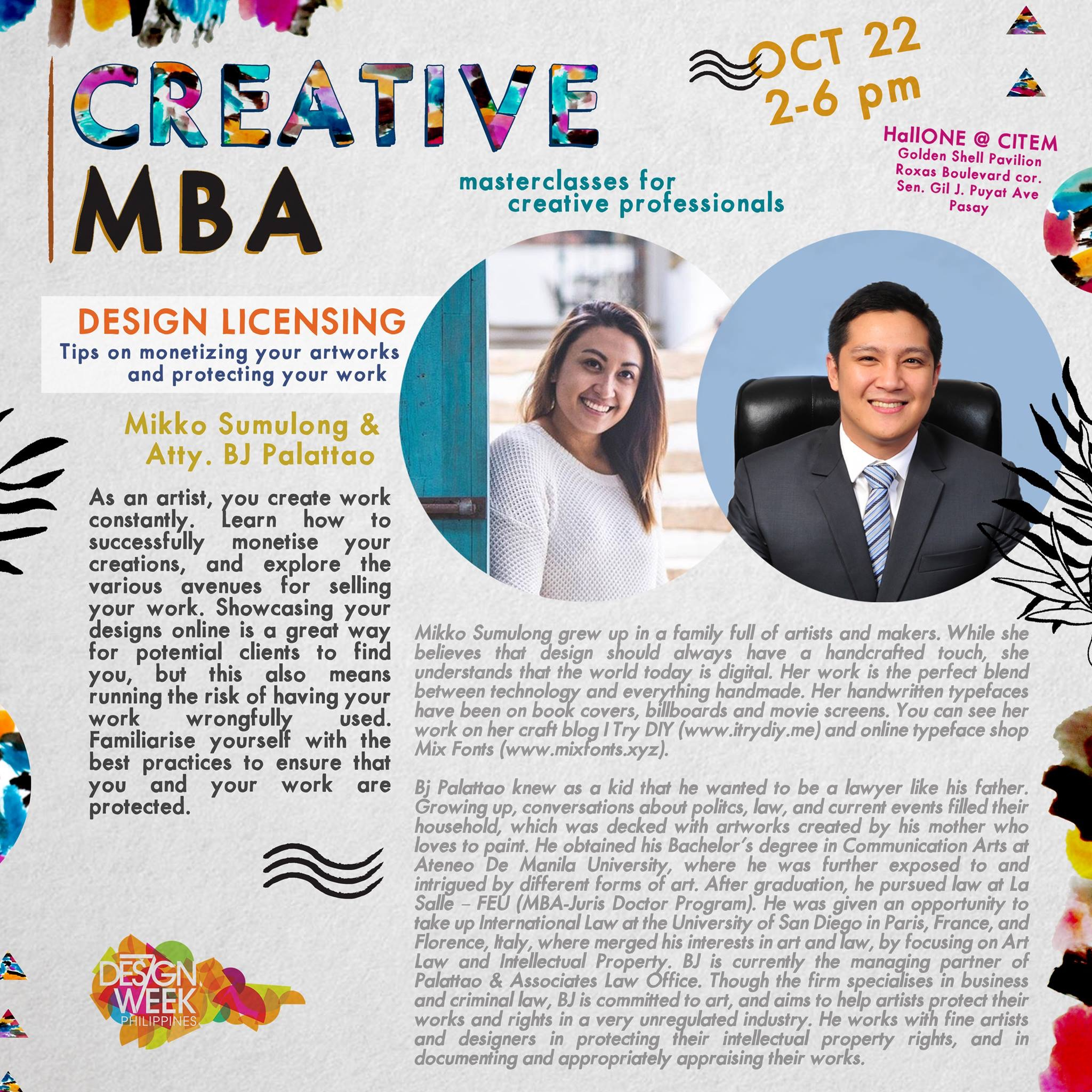 I Try DIY | Creative MBA at Design Week Philippines