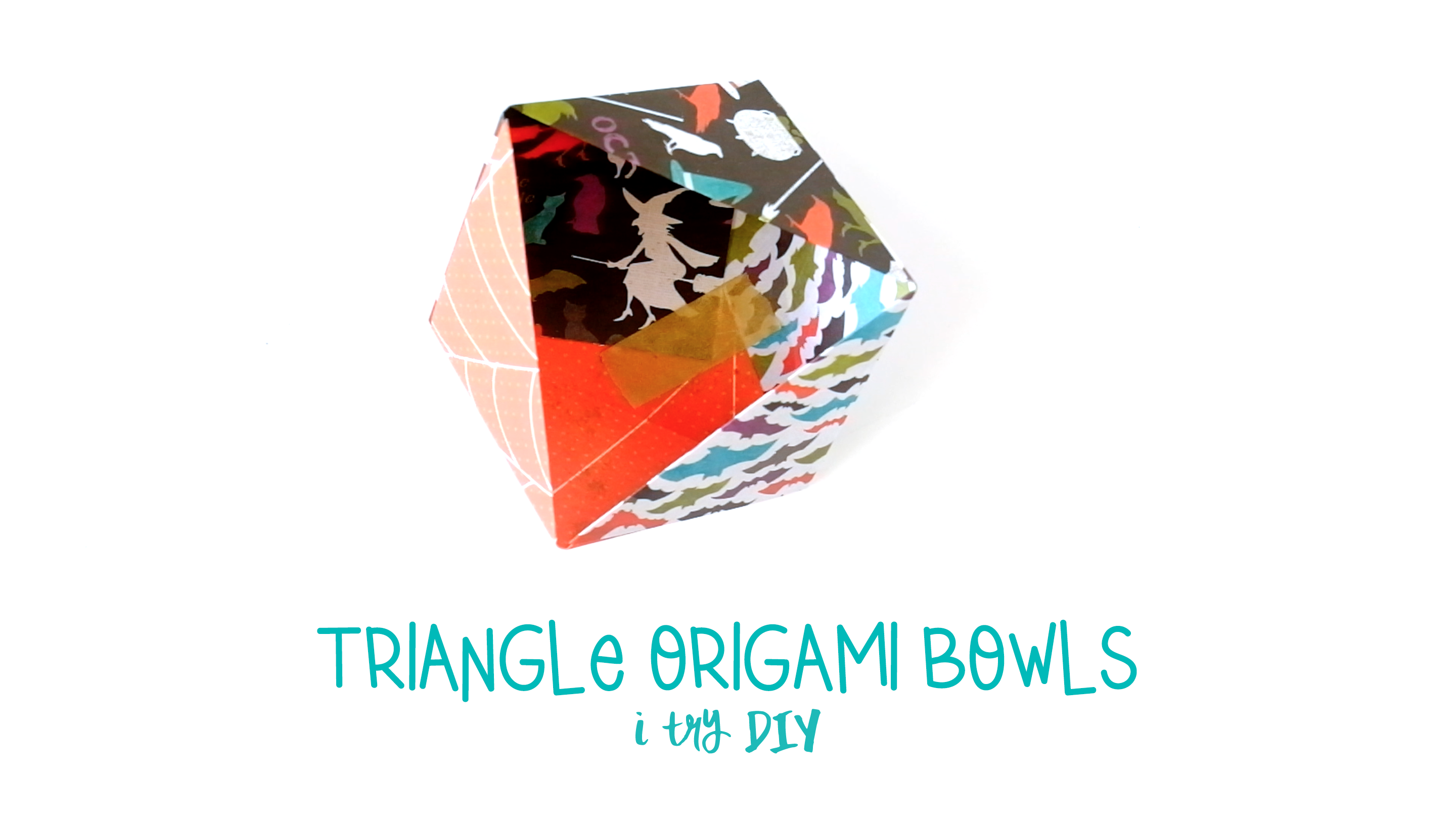 I Try DIY | How to Make Triangle Origami Bowls for Halloween