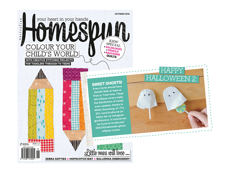 Ghost Lollipop Tutorial in Homespun AU!