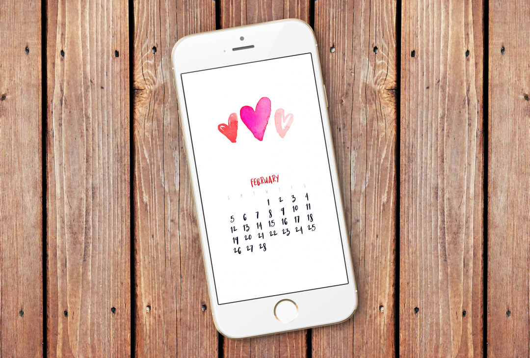 February 2017 Smartphone Wallpaper Calendar