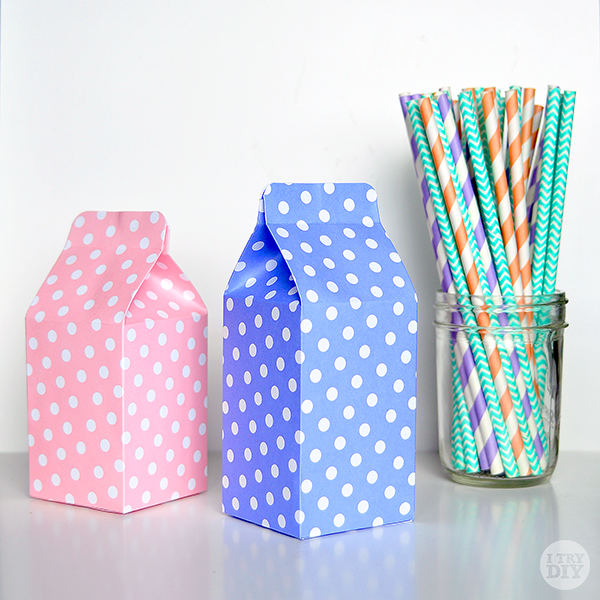It's A Wrap: DIY Mini Milk Cartons