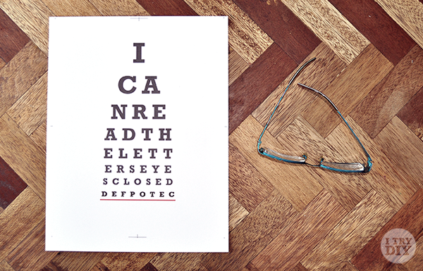 I Can Read The Letters Eyes Closed — Crafthubs