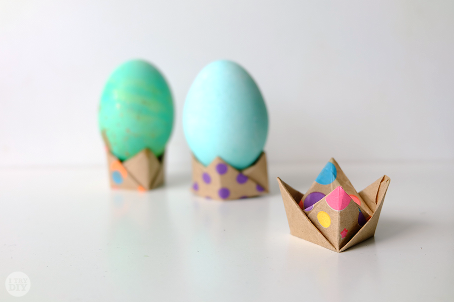 origami easter egg stand i try diy