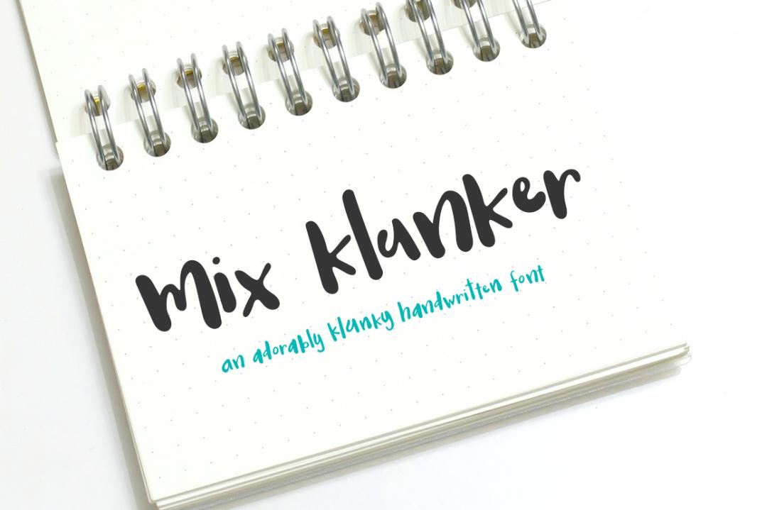 Mix Klunker, an adorably klunky handwritten font
