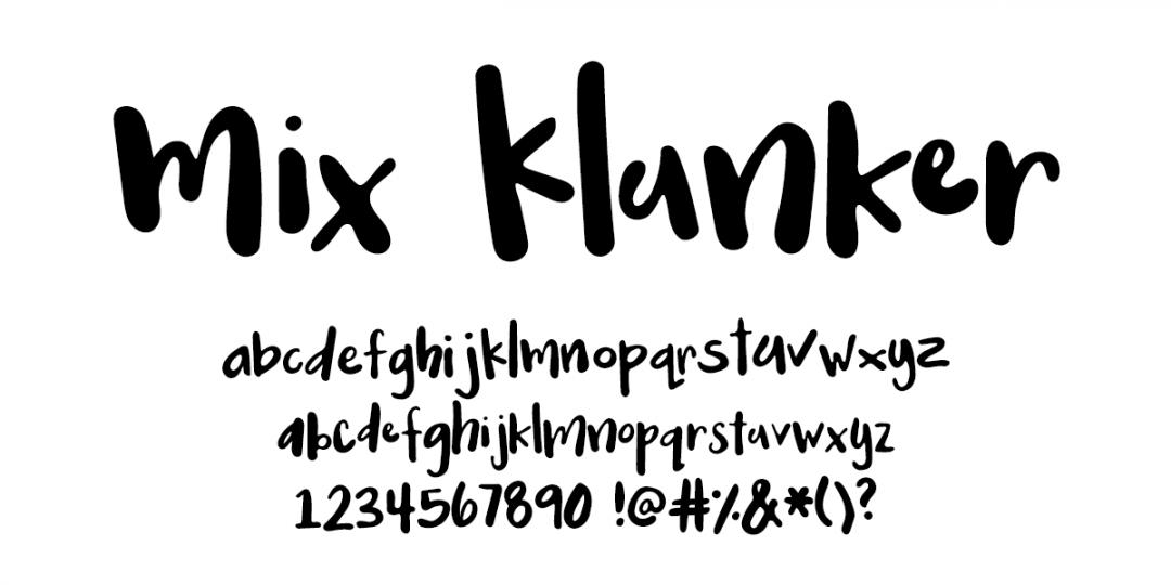 Handwritten Fonts by Mikko Sumulong - Mix Klunker