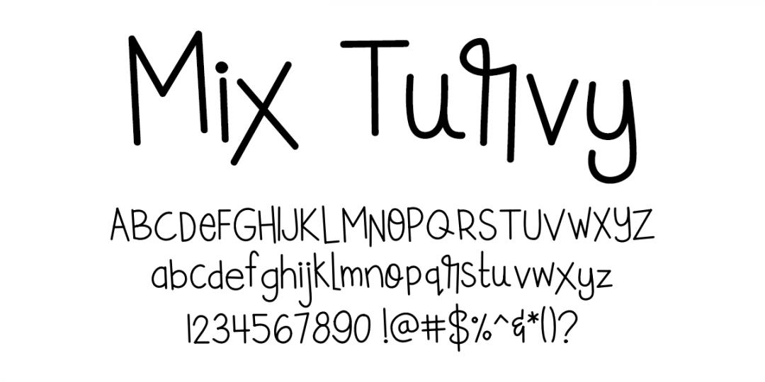 Fonts by Mikko Sumulong - Mix Turvy