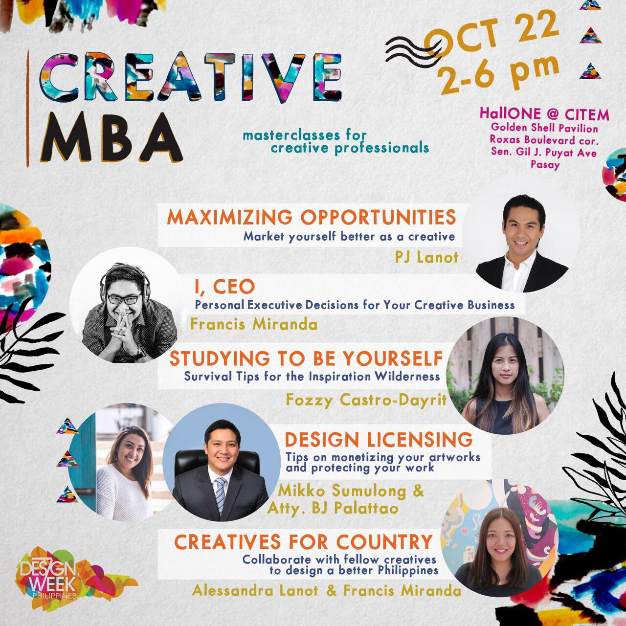 Mix Modern Solid on Creative MBA at Design Week Philippines Event Posters